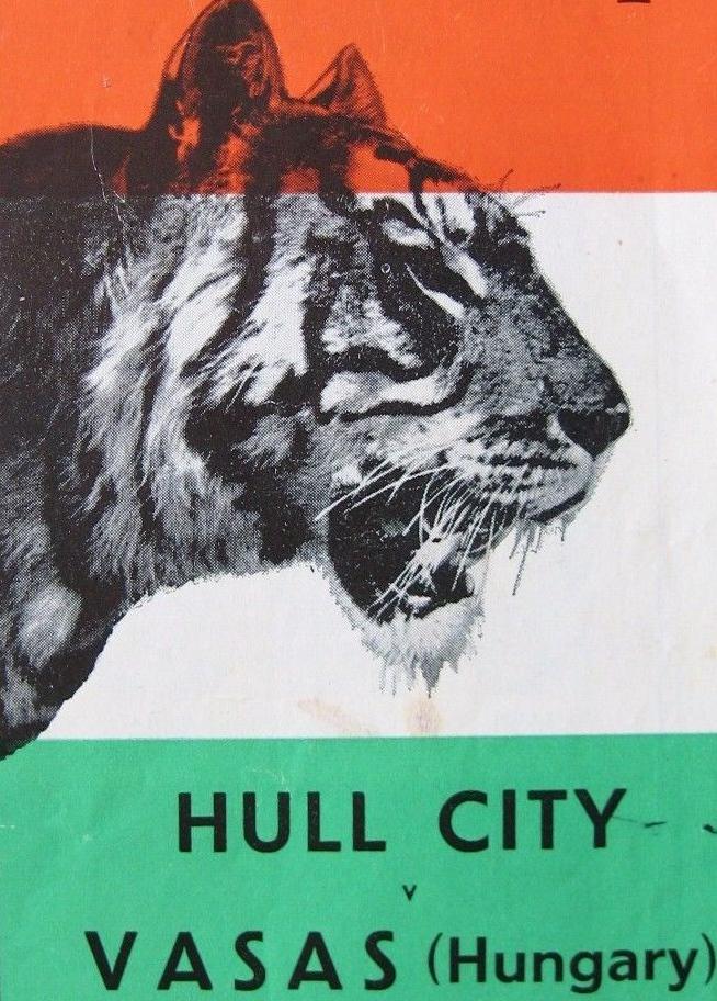 HULL-CITY-v-VASAS-BUDAPEST-Friendly-1955-1956-Good